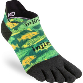 Injinji Spectrum Run Lightweight No Show Socks Men, deep sea